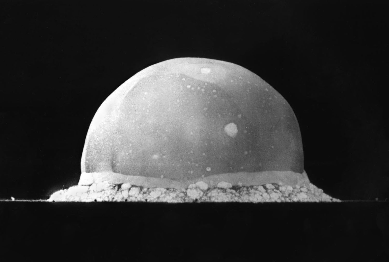 The Trinity explosion 0.016 seconds after detonation, 1945